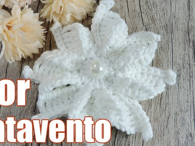 "Flor de crochê - Catavento ""Soraia Bogossian"""