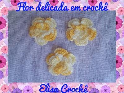Flor delicada em crochê # Elisa Crochê