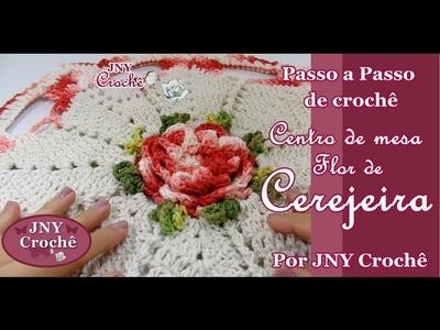 PAP Centro de mesa de crochê Flor de Cerejeira por JNY Crochê