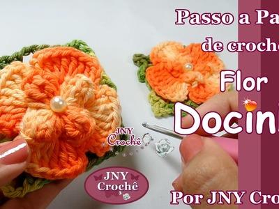 PAP de crochê Flor Docinho por JNY Crochê