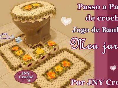 PAP Jogo de Banheiro Meu Jardim (Porta papel-higiênico) por JNY Crochê