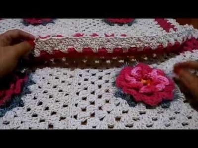 PAP tapete floral em crochê parte 2