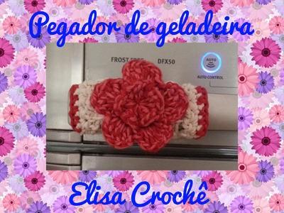 Pegador de geladeira em crochê # Elisa felix