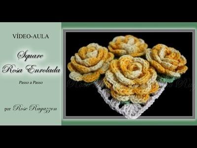 Square Rosa Enrolada