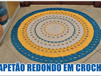 TAPETÃO REDONDO EM CROCHÊ.DIANE GONÇALVES
