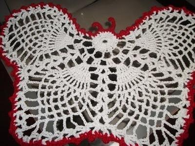 Toalhinha de borboleta em crochê # Elisa Crochê