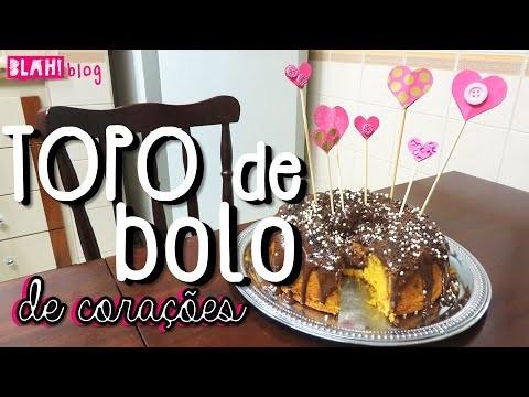 Como fazer um topo de bolo de corações (passo a passo) - DIY | Blah!Blog