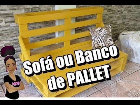 ✂ DIY: BANCO OU SOFÁ DE PALLET - FAÇA VOCÊ MESMO