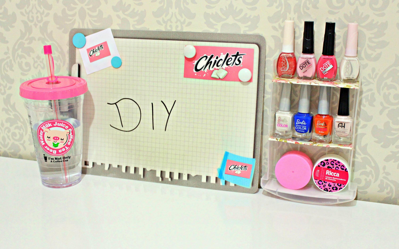 DIY.Faça você mesmo: Mini organizador de esmaltes (rápido e fácil) ♥