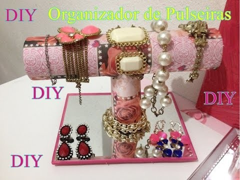 DIY-Organizador de Pulseiras-Spring room decorations-Por.Maryah Froez