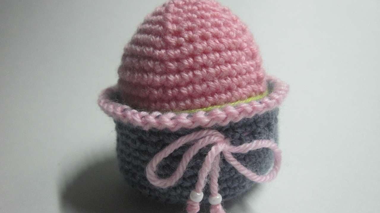 Faça uma Linda Cesta de Crochê para Ovo. - Faça Você Mesmo Artesanato - Guidecentral