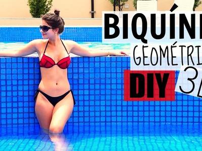 Como Fazer Biquíni 3D (geométrico) | DIY