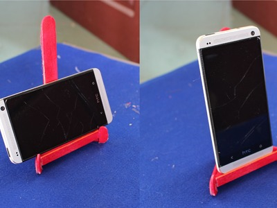 Como fazer um suporte de telefone | picolé vara