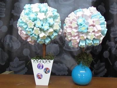 Como Montar uma Árvore de Marshmallow