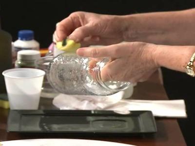Decoupage em vidro com papel - Geração de Renda IV