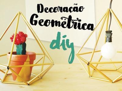 DIY Decoração geométrica usando canudos! por Isabelle Verona