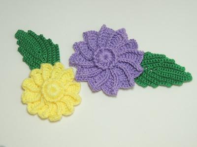 Flor em crochê - Flor de Crochê em Relevo - Parte 2.2