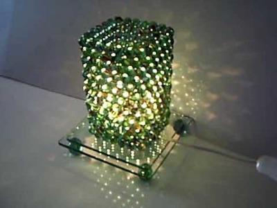 Luminária de bule de gude.