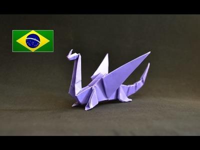 Origami: Dragão - Instruções em português PT BR