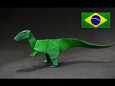 Origami: Velociraptor - Instruções em Português PT BR