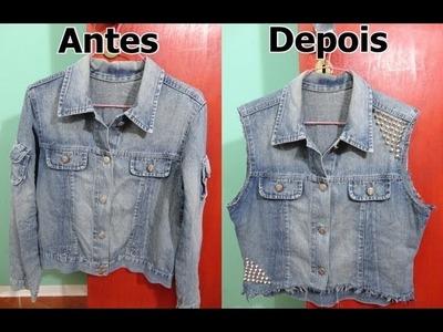 Personalize: De Jaqueta Jeans á Colete Jeans