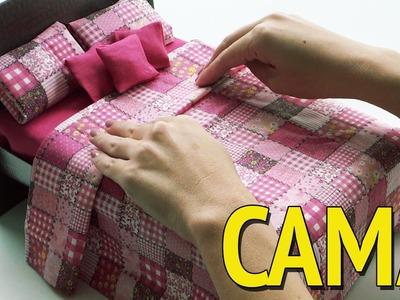 Como fazer uma Cama para Barbie e outras Bonecas com Caixa de Sapato!