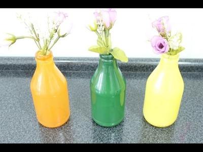 Como pintar garrafas de vidro(método símples).