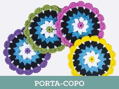 Criações em Crochê: Porta-copo | Luciana Ponzo