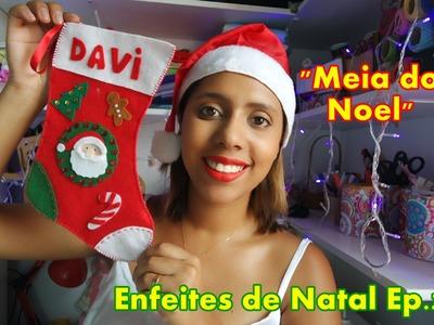 Enfeites de Natal- Meia do Papai noel