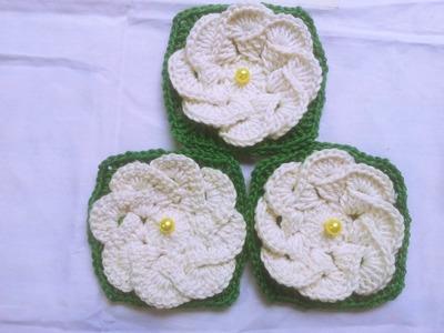 Flor de crochê - Chile