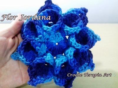 Flor de crochê para aplicação # Flor Jordana