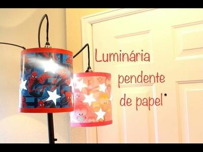 Luminária pendente de papel