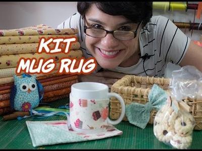 Passo a Passo - Paninhos e Afins - Kit Mug Rug - Lê Rey