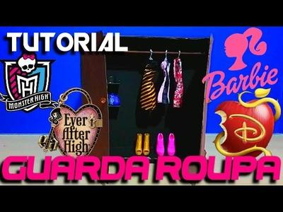 TUTORIAL - Guarda Roupa para Bonecas! Descendentes, Ever After High, Monster High, Barbie Peter toys