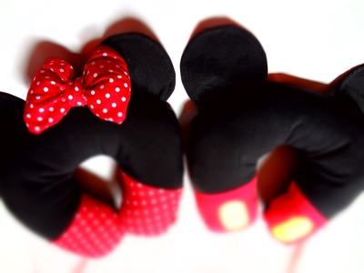 Almofadas personalizadas do Mickey Mouse e Minnie Mouse para viagem