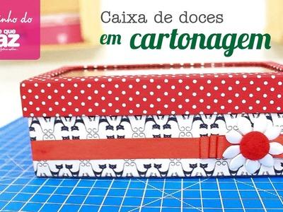 Caixa de doces em cartonagem (Ana Santiago)