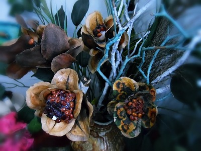 Como fazer flores artesanais com sementes