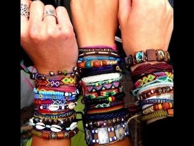 Como fazer pulseira hippie - facil