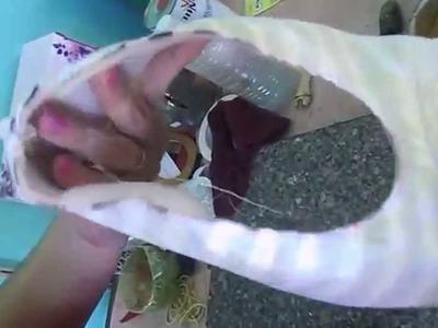 Como fazer sapatilhas com 10 reais
