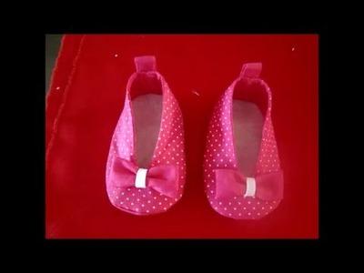 Como fazer sapatinho em tecido para bebê