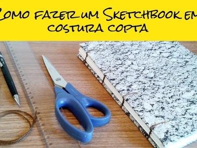 Como fazer um Sketchbook em costura copta