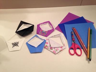 COMO FAZER uma bolsinha de dobradura (origami) - Julia Silva