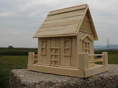 Como fazer uma casa palito de picolé