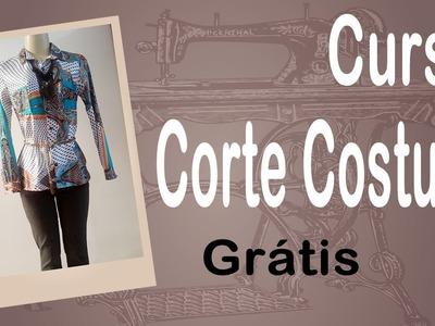 Corte e Costura passo-a-passo - Camisa Feminina Fácil - parte 1