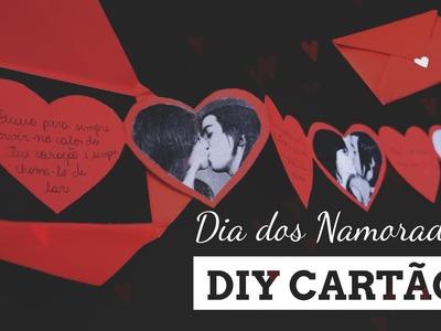 DIY: Cartão sanfonado com fotos e textos - DIA DOS NAMORADOS