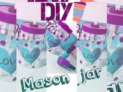 DIY: Copo Jarra | Mason Jar Cup | Faça Você Mesma.