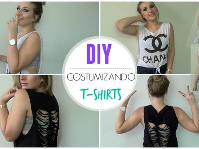 DIY: Customizando T-Shirts | FÁCIL e RÁPIDO ✄