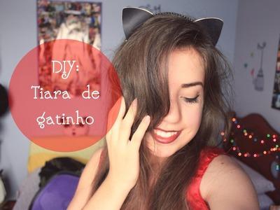 DIY para Halloween: Tiara de gatinho