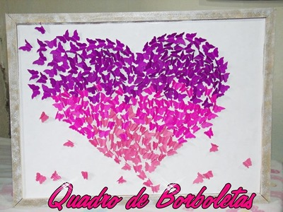 DIY: Quadro de Borboletas - Por Juliana Cortez ♥