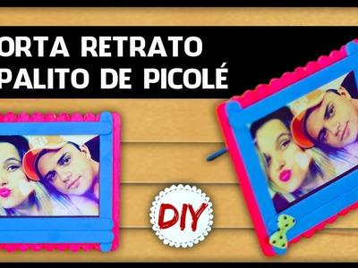 DIYminuto: Porta Retrato com Palito de Picolé - Fácil
